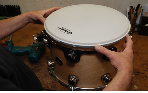 steps on how to change drum heads