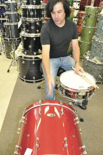 back to basics drum set up