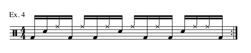 Drumming Tips - one note at a time music sheet
