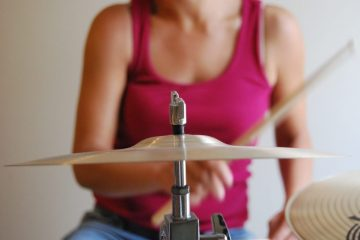 drummer practicing with cymbals
