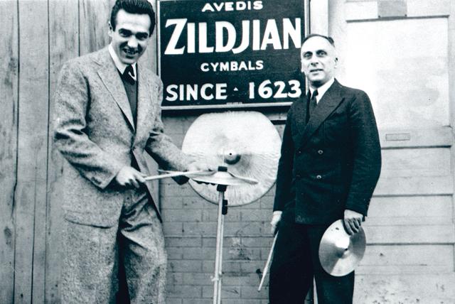 Gene Krupa with Avedis Zildjian