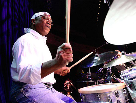 billy cobham playing on drums