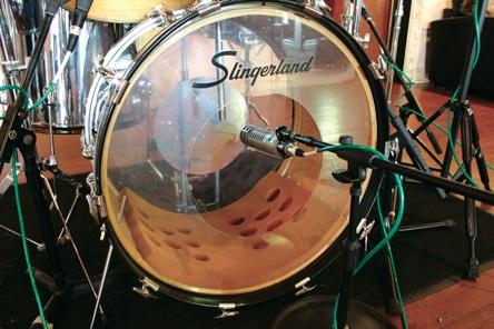 slingerland drum set up