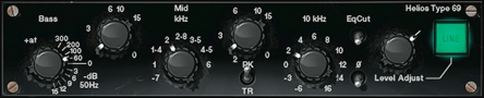 The Helios EQ section can add low end thickness like few solid state devices can