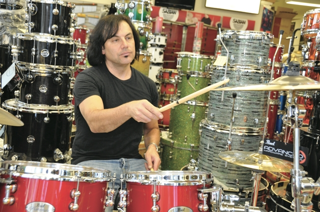 snare and high tom