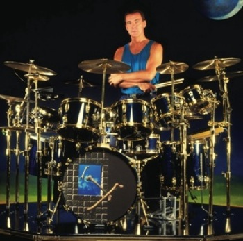 Neil Peart drum kit scaled down