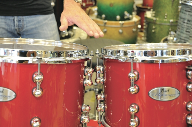 drums height and angle