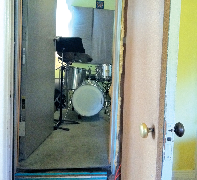 soundproof drum booth two doors