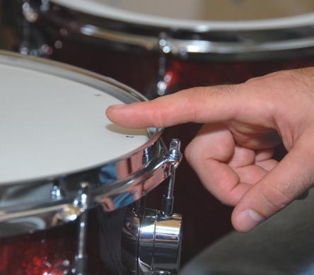 drum tuning finger tap