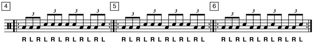 drum exercises playing shapes 4 to 6