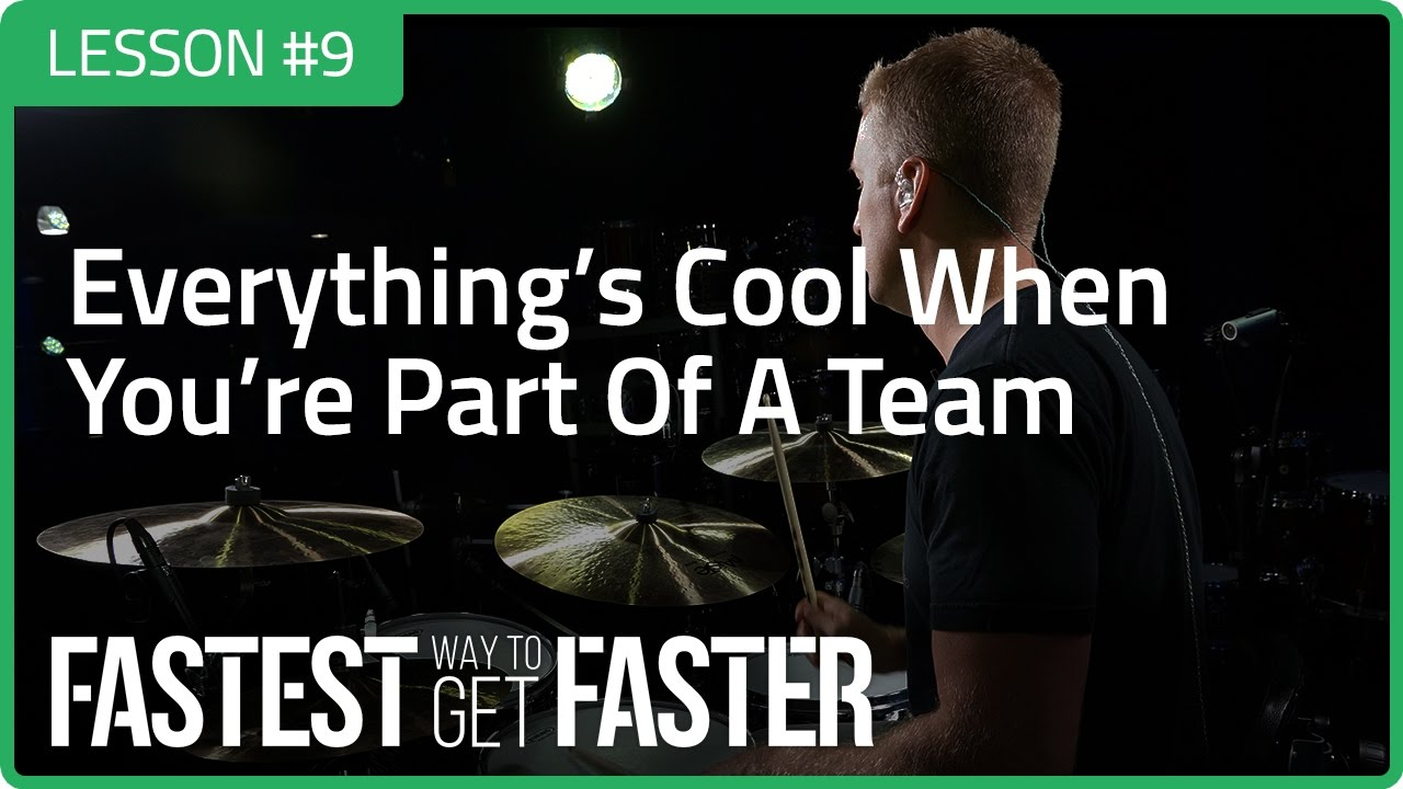 The Fastest Way to Get Faster Drum Lesson DAY 9 Team Featured Image