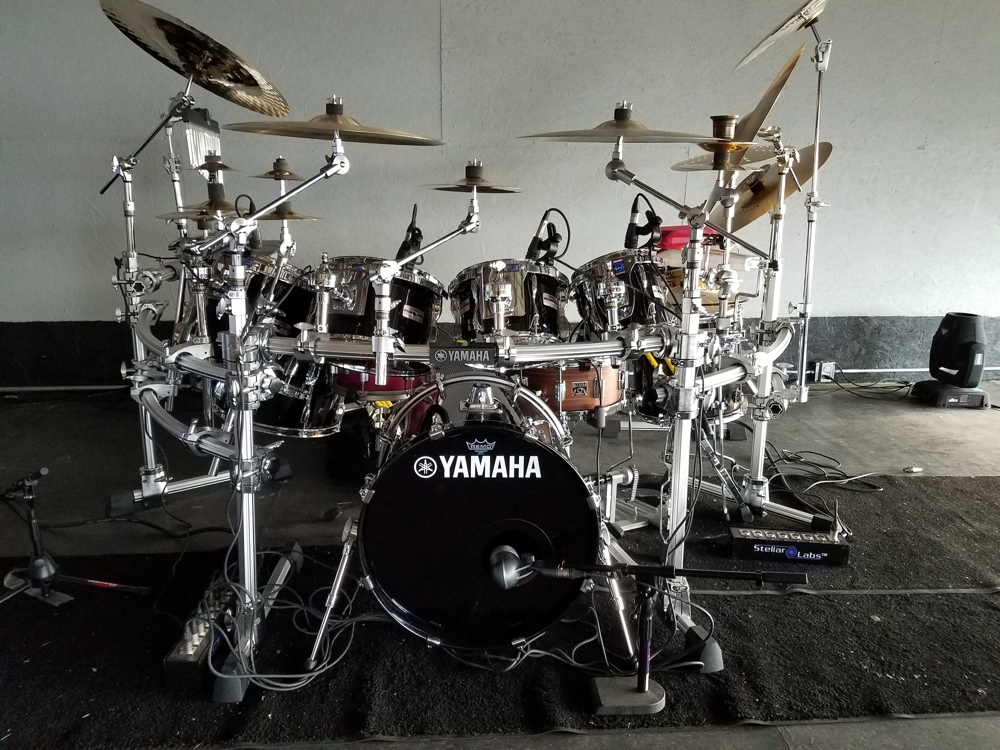 Carter Beauford Drum Set front view