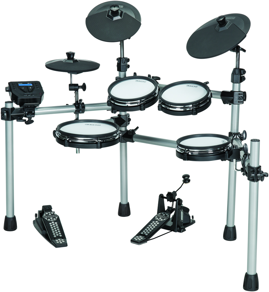 simmons releases sd550 mesh head electronic drum kit drum magazine. Black Bedroom Furniture Sets. Home Design Ideas