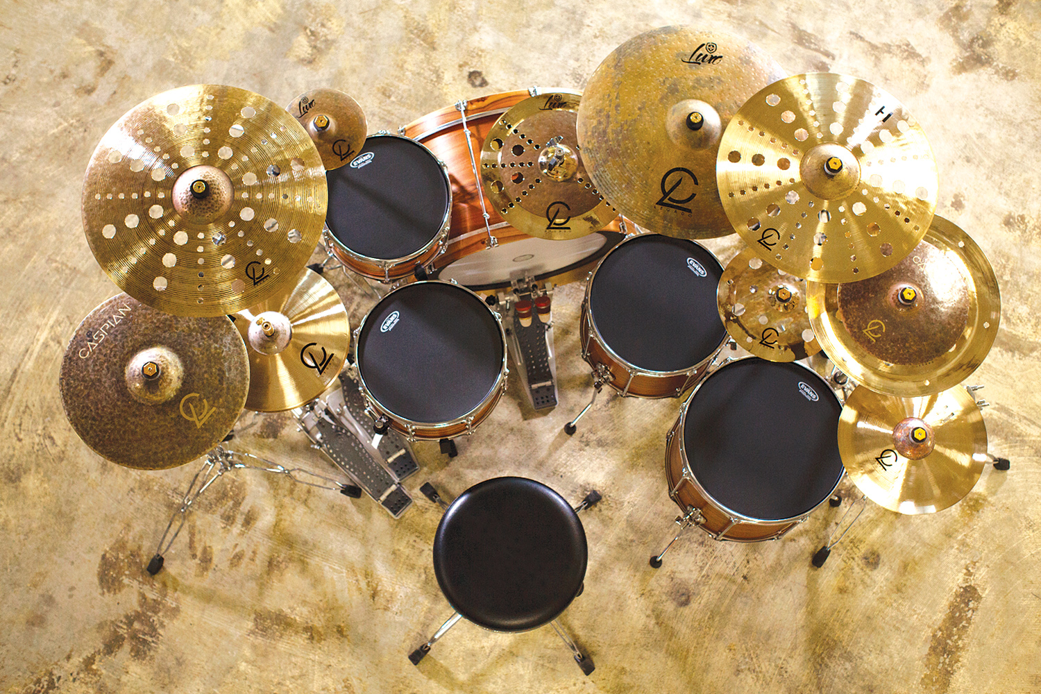 Legado Cymbals with Full Kit