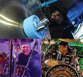 cympad endorsers Josh Baker (Mariah Carey), JR Robinson (studio legend) and Jason Bittner (Overkill, Shadows Fall)