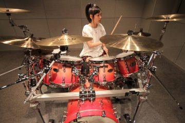 Kanade Sato on drums