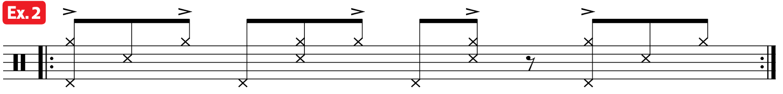 Practice Pad Afro Cuban Bass Drum Lesson ex2