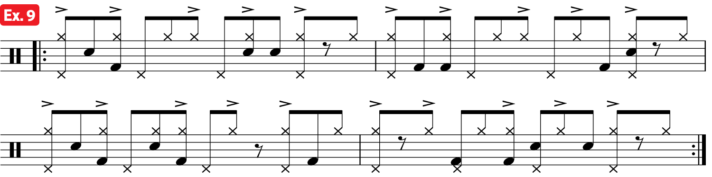 Practice Pad Afro Cuban Bass Drum Lesson ex9