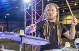 barry kerch posing with new kit drum sayre berman