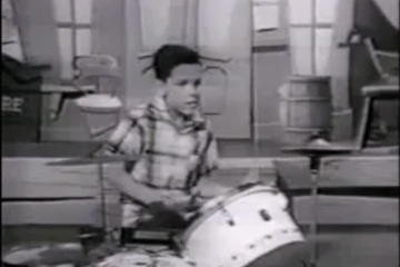 Drummer Steve Gadd in a 1957 episode of The Mickey Mouse Club