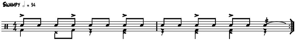 iko iko drum pattern