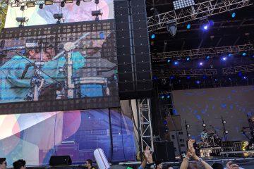 drummer joe zizzo with bob moses at outside lands 2019