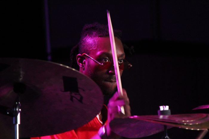 Drummer Mike Mitchell at the 2019 Monterey Jazz Fest