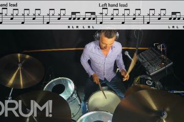 stewart jean drum lesson balance 3 left hand lead