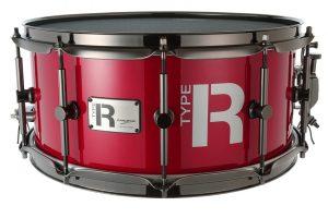 "Canopus R-Type 14"" x 6.5"" snare drum in Metallic Cherry finish"