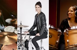 female drummers emanuelle caplette, jordan west, terri lyne carrington