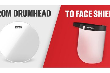 evans drumhead face shield