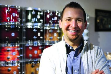 drummers resource podcast host nick ruffini with snare drums