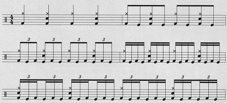 Drum foot technique exercises