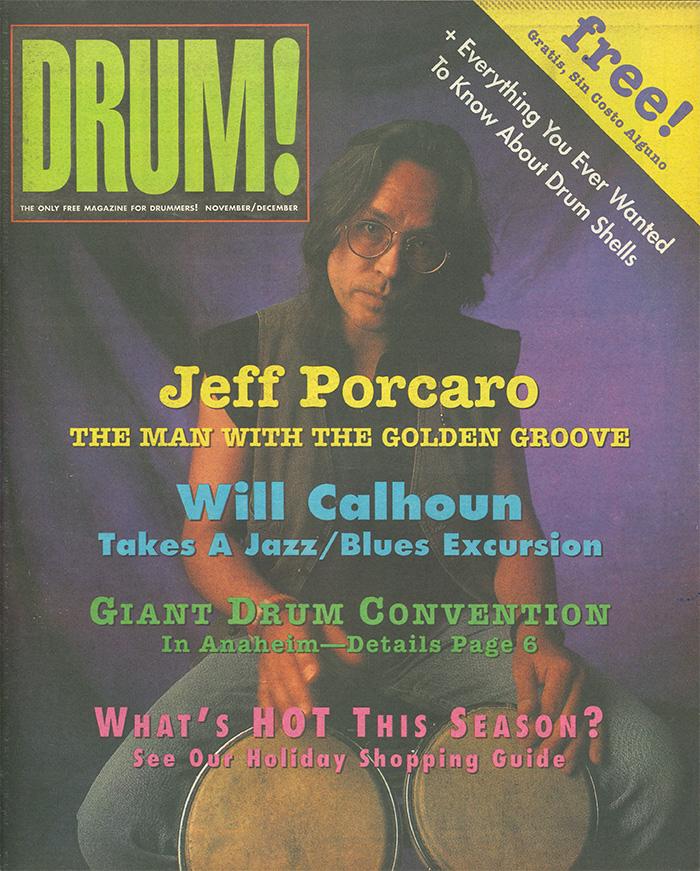 jeff porcaro drum magazine cover issue number 2