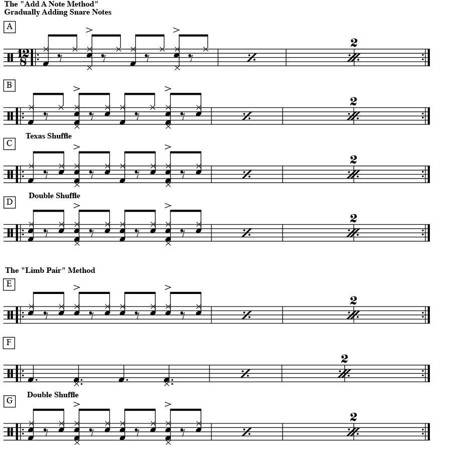 The Add Note Method - Shuffles
