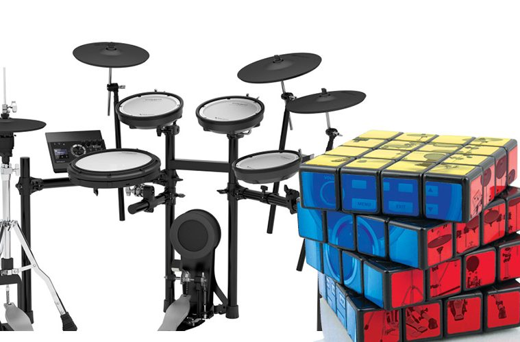 e-drums and rubix cube