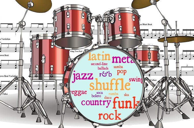 drums kit set up