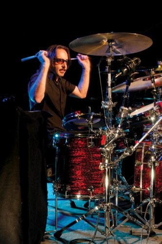 Butch Vig playing on drums