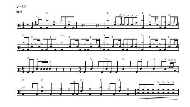 Death On Two Legs music notes