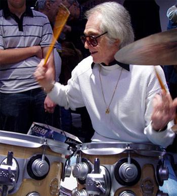 Freddie Gruber on drums
