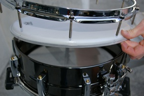 How To Tune Drums by checking the fit of the drum head