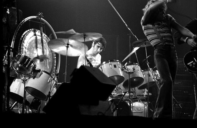 Keith Moon playing on drums