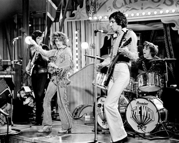 Keith Moon playing with the band