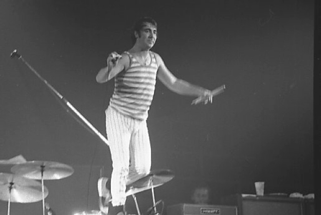 Keith moon on stage