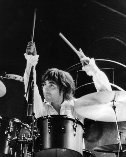 Keith playing drums in a concert