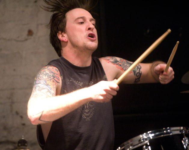 Michael Moose Thomas playing on drums