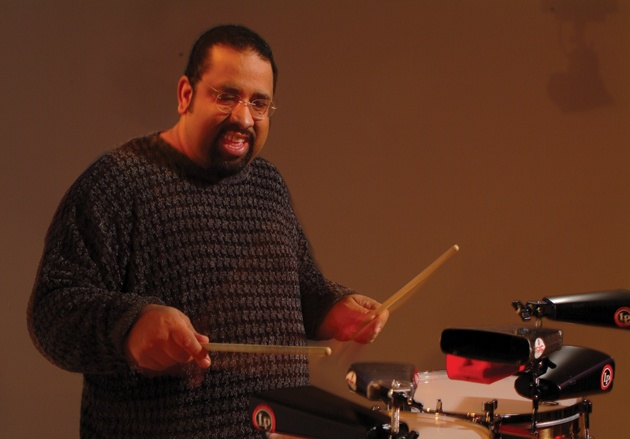 Ralph Irizarry playing drums