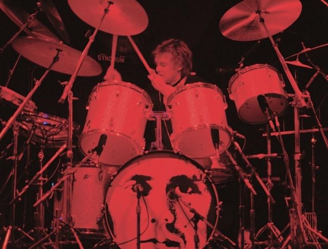 Roger Taylor on drums