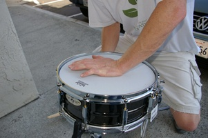 Seat the head when tuning the drum