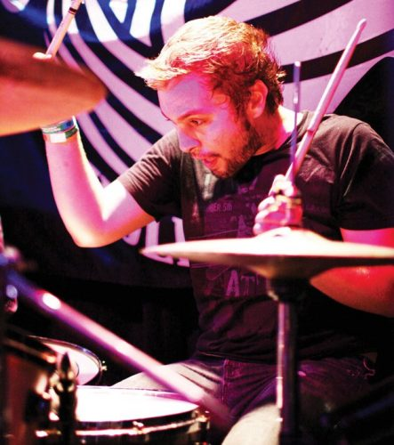 andrew forsman playing on drums